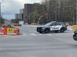 Police Car in North York Area after the accident